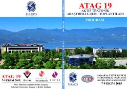 ATAG-19 Çalıştay Programı