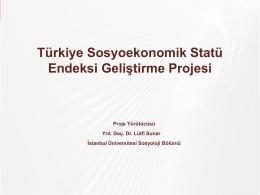Türkiye Sosyoekonomik Statü Endeksi Geliştirme Projesi