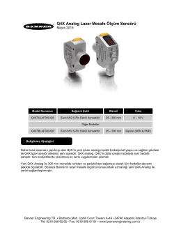 Q4X Analog Lazer Mesafe Ölçüm Sensörü
