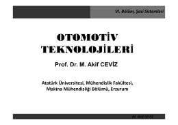 M. Akif CEVİZ VI. Bölüm, Şasi Sistemleri
