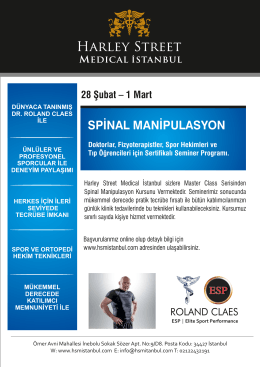 SPİNAL MANİPULASYON - Harley Street Medical İstanbul