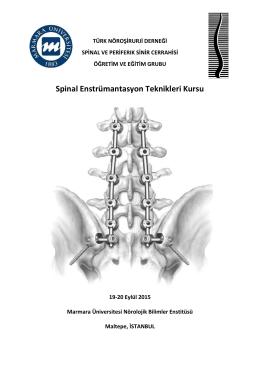 Spinal Enstrümantasyon Teknikleri Kursu