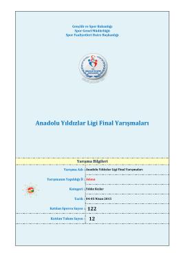 Anadolu Yıldızlar Ligi Final Yarışmaları
