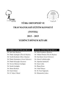totek - Türk Ortopedi ve Travmatoloji Birliği Derneği