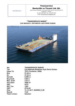 transservıce barge - TransService Denizcilik