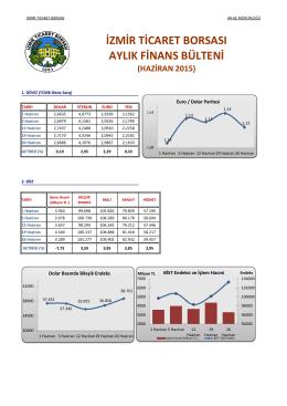 haziran 2015 - İzmir Ticaret Borsası