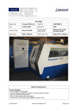 TruLaser 5030 (L16) TruFlow 5000