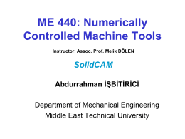 ME 534: Computer Control of Machines