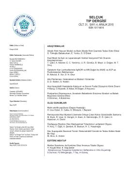PDF - Selçuk Tıp Dergisi
