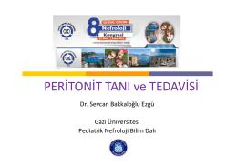 Peritonit Tanı ve Tedavisi