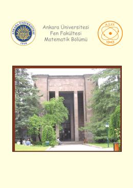 Ankara Üniversitesi Fen Fakültesi Matematik Bölümü