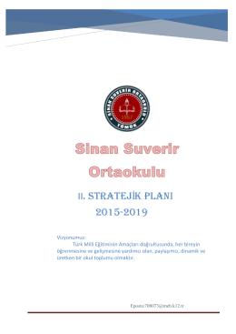 2.Stratejik Plan - Sinan Suverir Ortaokulu