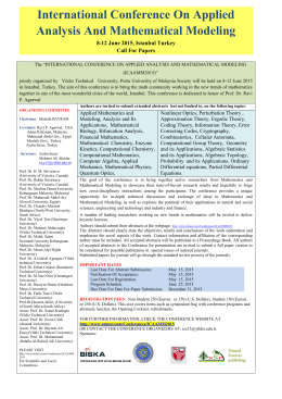 International Conference On Applied Analysis And Mathematical