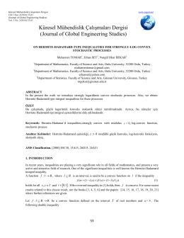 Küresel Mühendislik Çalışmaları Dergisi (Journal of