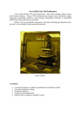 Veeco DEKTAK 150 Profilometre