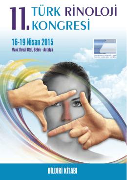 11TÜRK RİNOLOJİ KONGRESİ - Türk Kulak Burun Boğaz ve Baş