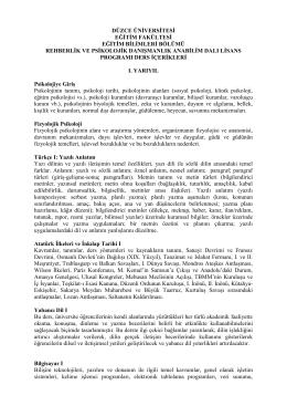 Ders İçerikleri - 2 - Düzce Üniversitesi Eğitim Fakültesi