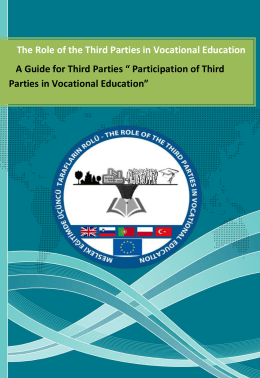 The Role of the Third Parties in Vocational Education A Guide for E