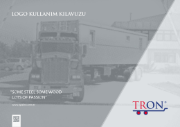 TRON Logo Kullanım Klavuzu OPALON Prefabricated Rig Drilling