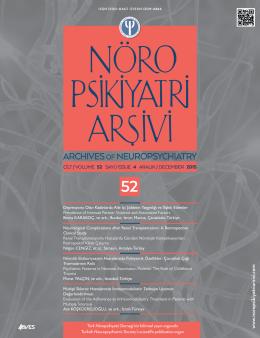 52 - Nöropsikiyatri Arşivi