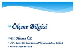 Giriş - Dr. Hasan ÖZ