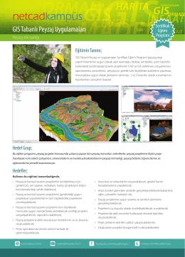 GIS Tabanlı Peyzaj Uygulamaları