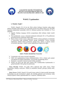 WebGL Uygulamaları - Karadeniz Teknik Üniversitesi