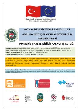 Portekiz Hareketlilik Faaliyetleri - Antalya Mesleki ve Teknik Anadolu
