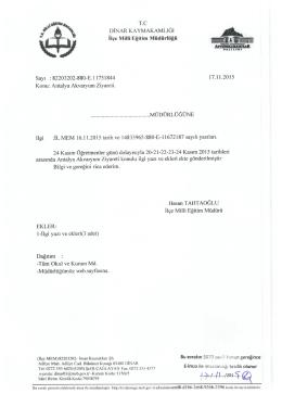 Antalya Akvaryum Ziyareti - Dinar İlçe Milli Eğitim Müdürlüğü