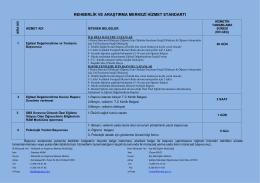rehberlik ve araştırma merkezi hizmet standartı