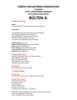 BÜLTEN-3- - Türkiye Oryantiring Federasyonu