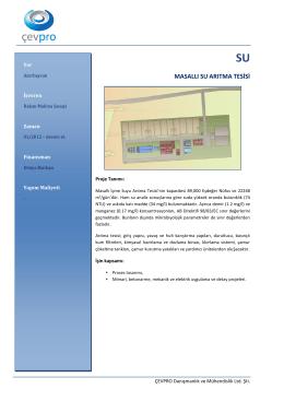 masallı su arıtma tesisi
