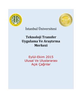İstanbul Üniversitesi Teknoloji Transfer Uygulama Ve Araştırma