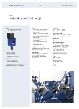 HTP-2 - Hidrolik Lojik Teknoloji