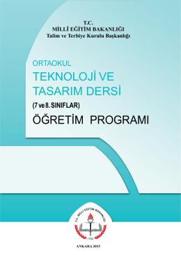 teknoloji ve tasarım dersi öğretim programı