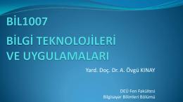Presentation - DEÜ Bilgisayar Bilimleri Bölümü