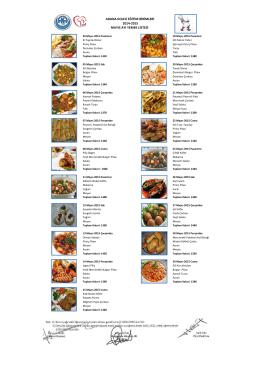 yemek listesi mayıs 2014-2015