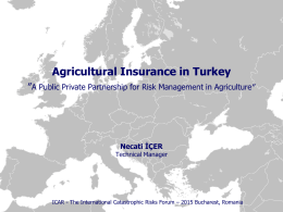State Supported Agricultural Insurance