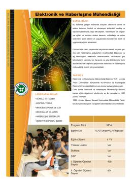 Elektronik ve Haberleşme Mühendisliği