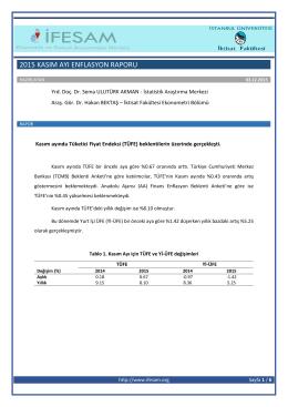 2015 kasım ayı enflasyon raporu