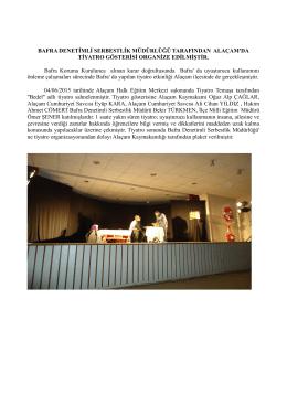 Alaçam`da Tiyatro Gösterisi