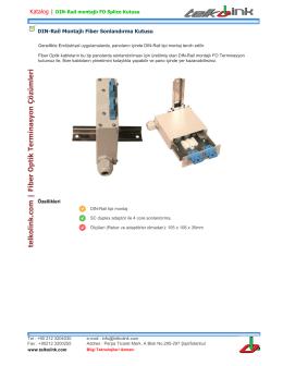Telkolink | DIN-Rail Montajlı Fiber Sonlandırma Kutusu