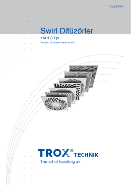 Swirl Difüzörler - TROX Easy Product Finder 2