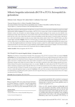 Mikozis fungoides tedavisinde dbUVB ve PUVA
