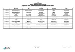 Sınıfların Ders Programı - Adapazarı İmam Hatip Ortaokulu