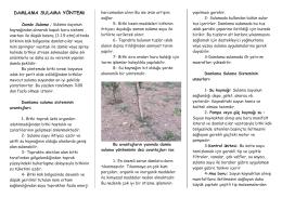 Damla Sulama Yöntemi - Samsun İl Gıda Tarım ve Hayvancılık