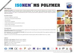 ms polymer ısonem
