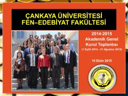 2015 için - Fen-Edebiyat Fakültesi