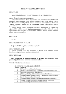 İçişleri Bakanlığı Personeli Görevde Yükselme ve Unvan Değişikliği