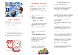 Aile Bilgilendirme Broşürü - Mehmet Bülent Özyürük İlkokulu